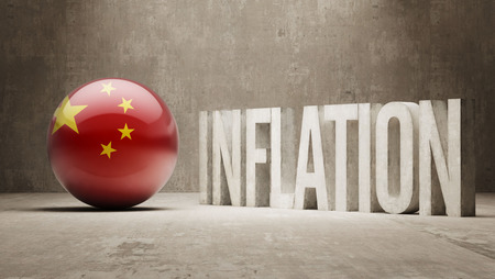 inflation: China High Resolution Inflation Concept Stock Photo