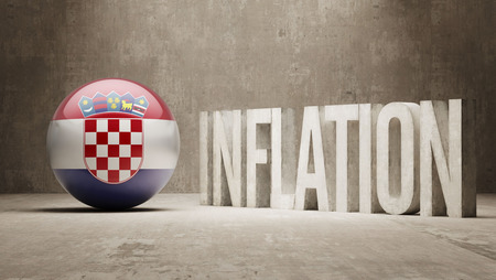 inflation: Croatia High Resolution Inflation Concept Stock Photo