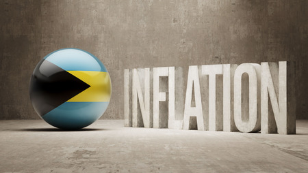 inflation: Bahamas High Resolution Inflation Concept Stock Photo