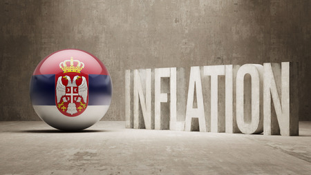 serbia flag: Serbia High Resolution Inflation Concept
