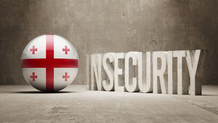 risky: Georgia High Resolution Insecurity Concept Stock Photo