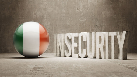 insecurity: Ireland High Resolution Insecurity Concept