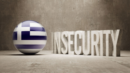 insecurity: Greece High Resolution Insecurity Concept