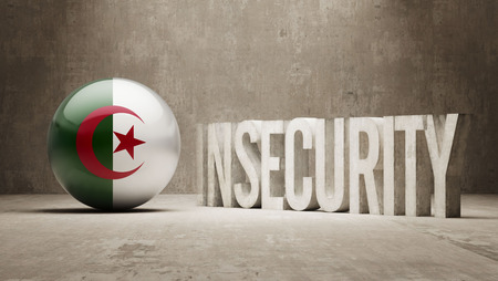 insecurity: Algeria High Resolution Insecurity Concept