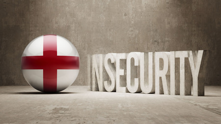 insecurity: England High Resolution Insecurity Concept Stock Photo
