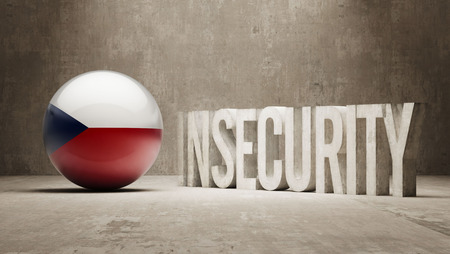 insecurity: Czech Republic High Resolution Insecurity Concept Stock Photo