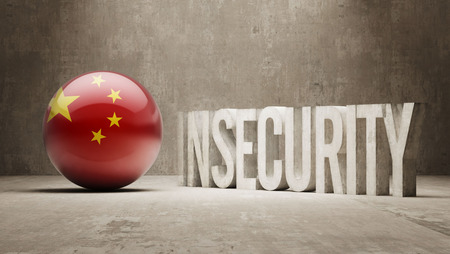 insecurity: China High Resolution Insecurity Concept