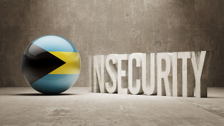 insecurity: Bahamas High Resolution Insecurity Concept Stock Photo