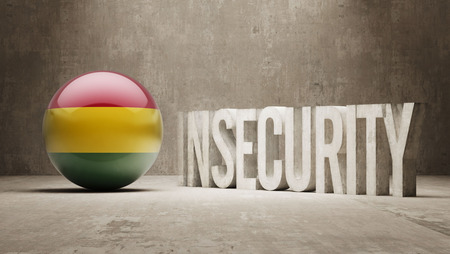 insecurity: Bolivia High Resolution Insecurity Concept