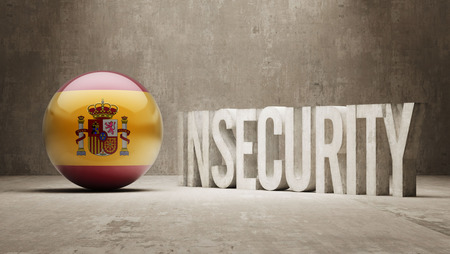 insecurity: Spain High Resolution Insecurity Concept