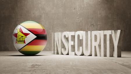 zimbabwe: Zimbabwe High Resolution Insecurity Concept Stock Photo