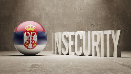 insecurity: Serbia High Resolution Insecurity Concept Stock Photo