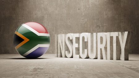insecurity: South Africa High Resolution Insecurity Concept Stock Photo
