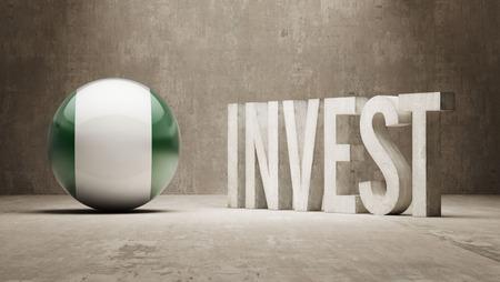 strategist: Nigeria High Resolution Invest Concept Stock Photo