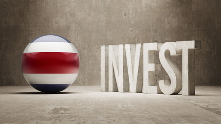 financial advisors: Costa Rica High Resolution Invest Concept Stock Photo