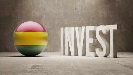 Bolivia High Resolution Invest Concept Stock Photo