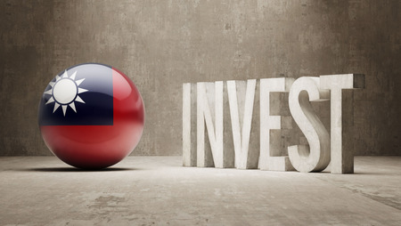 advisory: Taiwan High Resolution Invest Concept Stock Photo