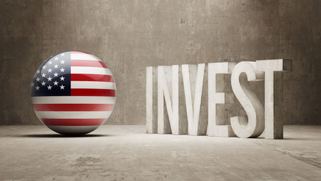 advisory: United States High Resolution Invest Concept Stock Photo