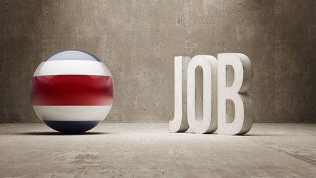 job hunting: Costa Rica High Resolution Job Concept Stock Photo