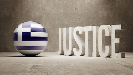 defendant: Greece High Resolution Justice Concept