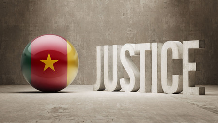 defendant: Cameroon High Resolution Justice Concept Stock Photo