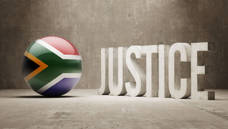 defendant: South Africa High Resolution Justice Concept Stock Photo