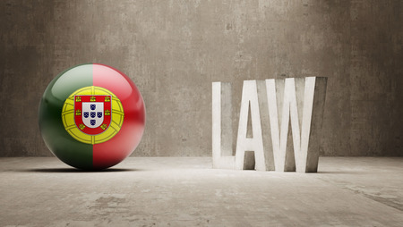 law of portugal: Portugal High Resolution Law Concept Stock Photo