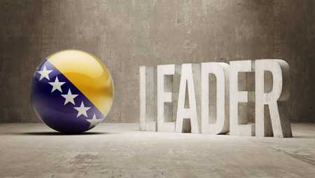 bosnia and herzegovina: Bosnia and Herzegovina   Leader Concept Stock Photo