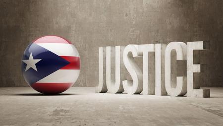puerto rico: Puerto Rico  Justice Concept