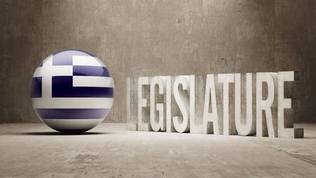 legislature: Greece Legislature Concept