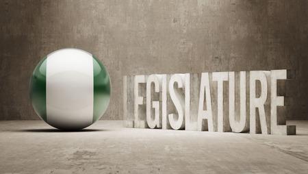 legislature: Nigeria   Legislature Concept Stock Photo