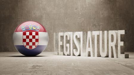 legislature: Croatia   Legislature Concept Stock Photo