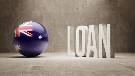 weal: Australia   Loan Concept Stock Photo