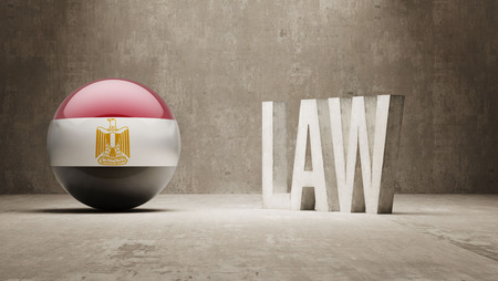 foreclosure: Egypt  Law Concept Stock Photo