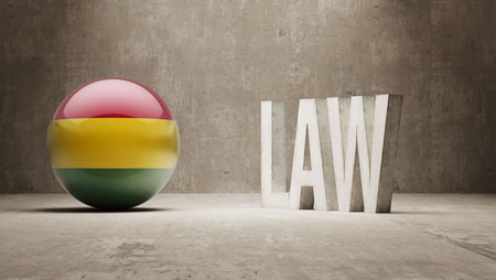 prosecution: Bolivia  Law Concept Stock Photo