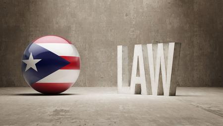 puerto rico: Puerto Rico Law Concept