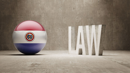 paraguay: Paraguay  Law Concept Stock Photo