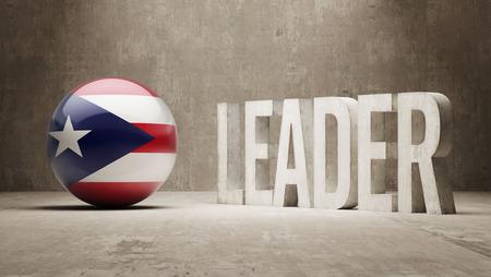 puerto rico: Puerto Rico  Leader Concept Stock Photo