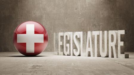 legislature: Switzerland  Legislature Concept Stock Photo