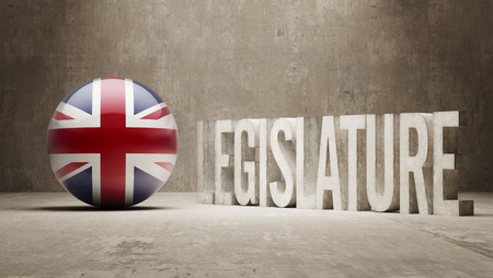 legislature: United Kingdom Legislature Concept Stock Photo