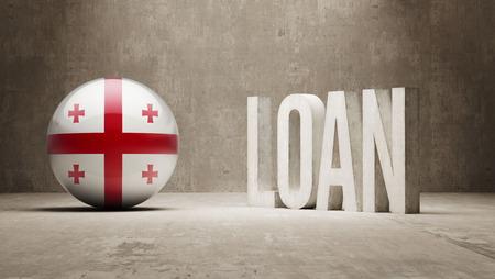 Georgia Loan Concept Stock Photo