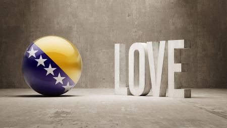 bosnia and herzegovina: Bosnia and Herzegovina  Love Concept Stock Photo