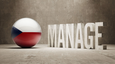 manage: Czech Republic manage concept