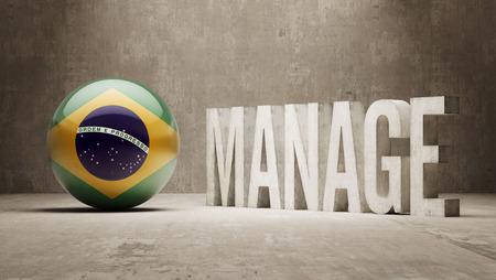 Brazil manage concept photo