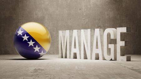 bosnia and herzegovina: Bosnia and Herzegovina manage concept Stock Photo