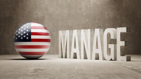 United States manage concept photo