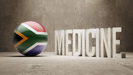 health care funding: South Africa   Medicine Concept Stock Photo