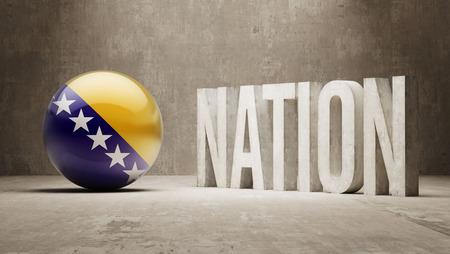 bosnia and herzegovina: Bosnia and Herzegovina   Nation Concept Stock Photo