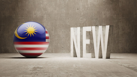 renewed: Malaysia  New Concept Stock Photo