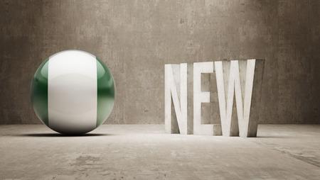 renewed: Nigeria   New Concept Stock Photo